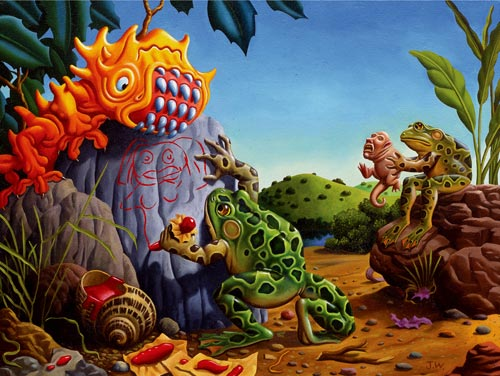 Jim Woodring photos of frogs