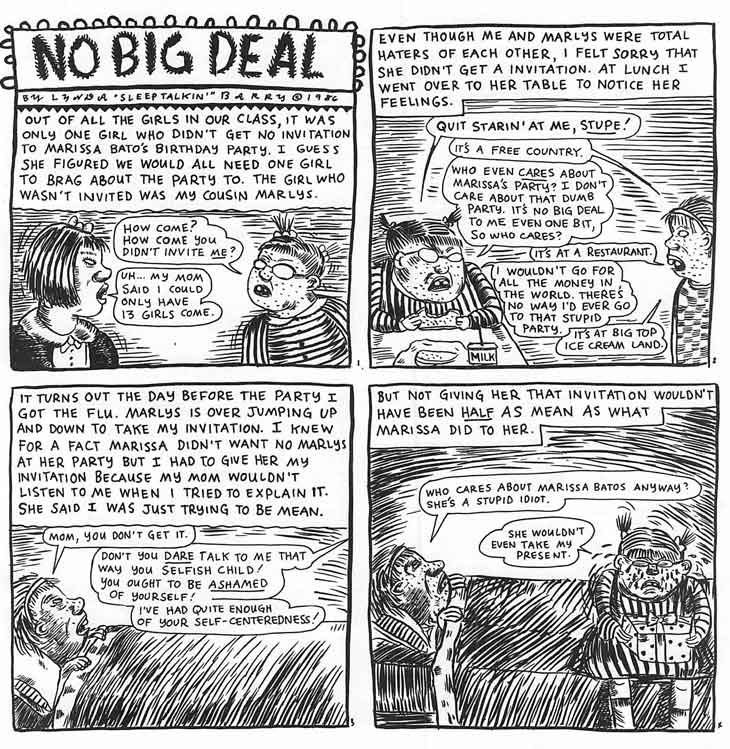 Lynda Barry's comics