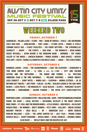 Photo of Austin City Limits Musical Festival Weekend Two