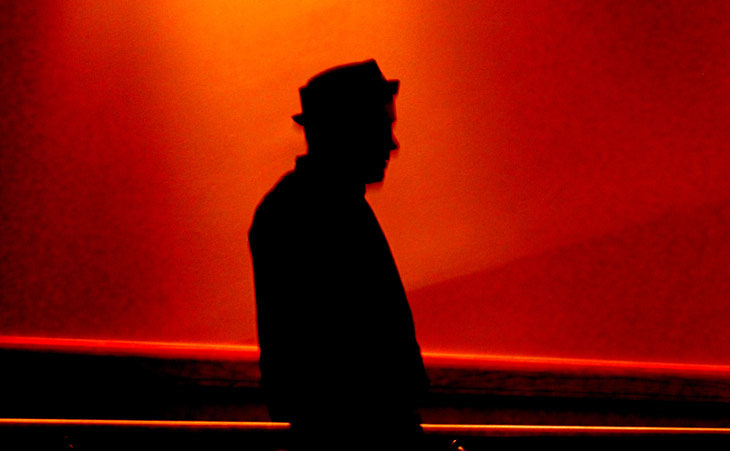 Photo of Rick Moody in shadow