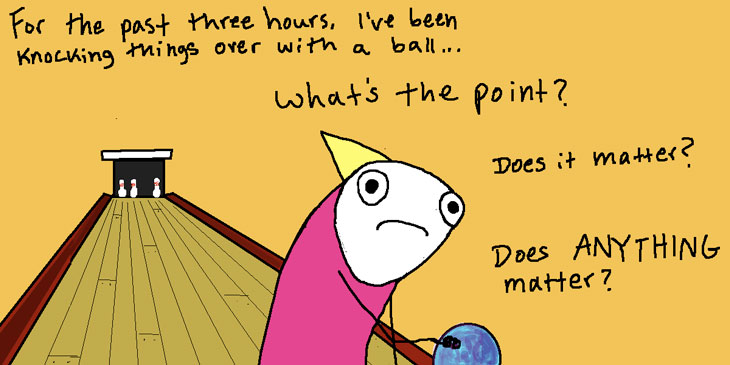 Picture of Allie Brosh comic - bowling