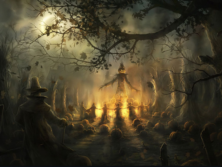 Picture of Halloween Gathering