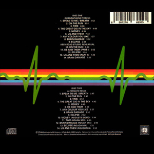Picture of pink floyd Dark Side of the Moon track list