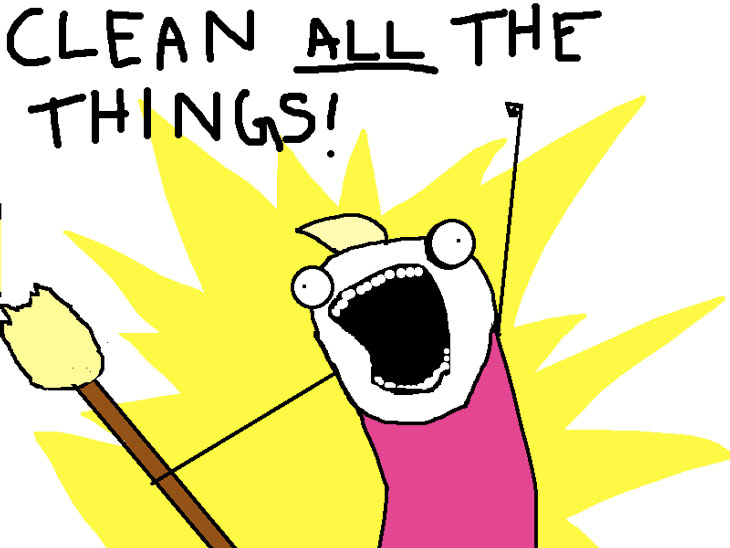 Picture of Allie Brosh comic - clean all the things