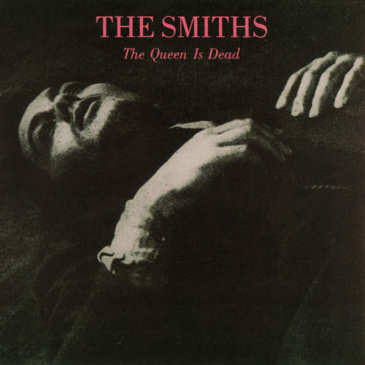 Picture of The Smiths album art, the queen is dead