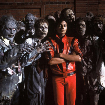 Picture of Michael Jackson with zombies