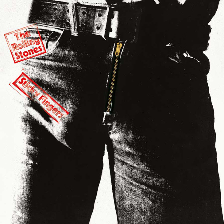 Picture of the rolling stones sticky fingers album cover