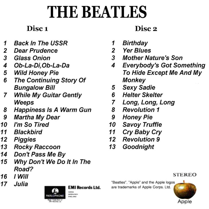 Image result for the beatles white album images